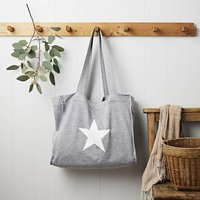 Star Grey Jersey Slouch Bag