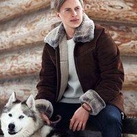 Mens Aviator Sheepskin Coat