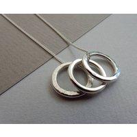Polo Trio Silver Necklace, Silver