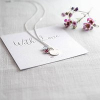 Personalised You And Me Birthstone Necklace