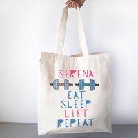 Eat Sleep Lift Repeat Personalised Gym Bag