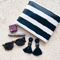 Monochrome Painted Stripe Hero Bag