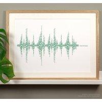 Hibernian Football Song Soundwave Typography Print