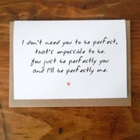 'Perfectly You' Valentine's Card