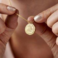Sunburst Evil Eye Talisman Coin Necklace