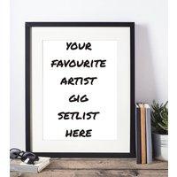 Favourite Artist Setlist Framed Print