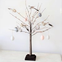 Six Grey And Blush Hanging Decorations