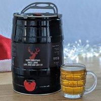 Personalised Christmas Craft Beer Keg
