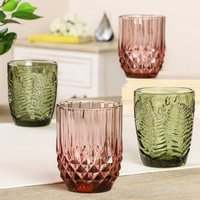 Spring Dining Set Of Four Luxury Coloured Tumblers
