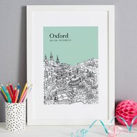 Personalised Oxford Print, Melon/Blush/Violet