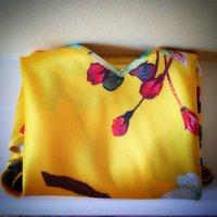 Lola Print Silk Tank Top