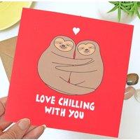 Sloth Wedding Anniversary Card
