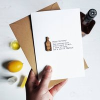 Tequila Humorous Alcohol Birthday Card