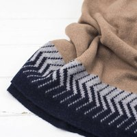 Knitted Chevron Lambswool Wrap