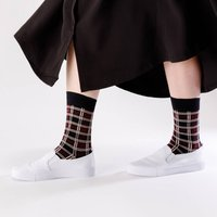Unisex Ethical Burgundy Tartan Socks