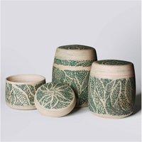 Hand Carved Lidded Pot