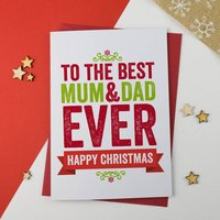 Best Mum And Dad Christmas Card