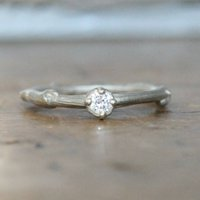 Twig And Branch Diamond Solitaire Ring