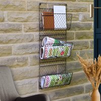 Wall Mounted Home Storage Magazine Rack