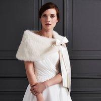 Helen Moore Faux Fur Bridal Shoulder Wrap