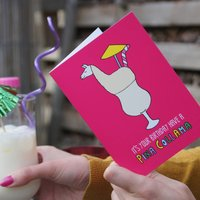 Llama Birthday Card For Cocktail Lover