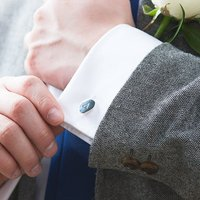 Men's Organic Initial Cuff Links