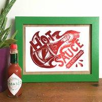 Foil Hot Sauce Kitchen Mini Print
