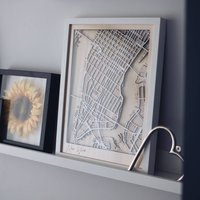 Your Location Framed Multi Layer Wood Map