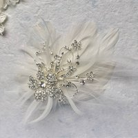 Seraphine Embellished Feather Hair Piece