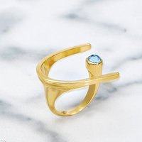 Gold Cocktail Ring Lunaria, Gold