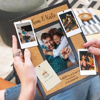 Personalised New Home Cork Pin Photo Frame