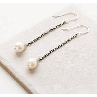 Long Pearl Earrings, White/Pearl/Ivory