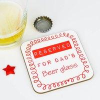 Personalised Beer Coaster