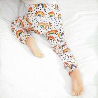 Organic Rainbow Toddler And Baby Leggings
