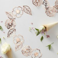 Rose Gold Cut Out Floral Party Garland