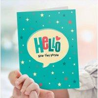 New Baby Card Hello Baby Boy