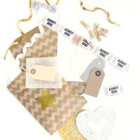 Kraft Gift Wrap Party Kit