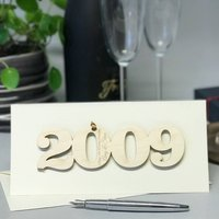 Personalised 2009 10th Anniversary Year Card