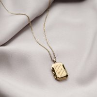Heart Space Gold Locket Necklace, Gold