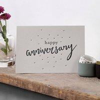 'Happy Anniversary' Letterpress Card