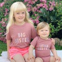 Big Sister Little Sister T Shirt Set Pink