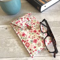 Personalised Floral Glasses Case
