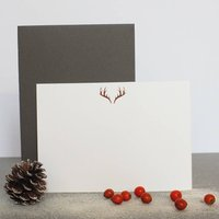 Rose Gold Antler Notecards