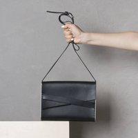 Black Modern Leather Satchel