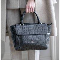 Womens Small Mock Croc Leather Tote Bag 'Paluzza Croco'