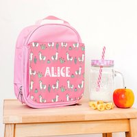 Personalised Mexicana Llama Children's Lunch Bag