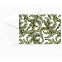 Tropical Palm Christmas Card White