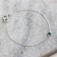 Sterling Silver Ziva Swarovski Crystal Bracelet, Silver