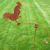Cockerel Single Or Double Ball Garden Wind Rocker
