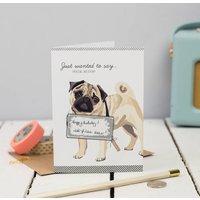Pug Scratch Off Card